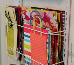 hanging gift wrap organizer o is for organize an organized gift wrap station