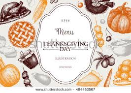 Thanksgiving Dinner Menu Template Thanksgiving Frames And Templates Download Free Vector Art