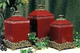 ceramic canisters sets for the kitchen red kitchen canisters red ceramic canisters for the kitchen red