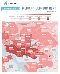 Map Of Washington Dc Neighborhoods by The Cheapest U0026 Most Expensive D C Neighborhoods For Renters