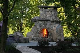 outdoor stone fireplace outdoor stone fireplace landscaping network