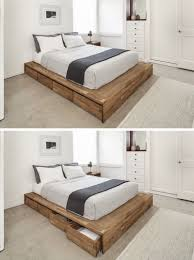 How To Build A Bed Frame With Storage 9 Ideas For The Bed Storage Eight Large Rolling Drawers