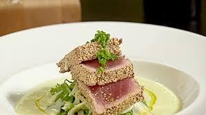 cuisiner thon saisie de thon aux graines de pavot blanc