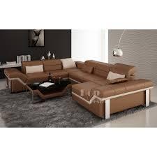 canapé d angle cuir marron canapé d angle cuir panoramique design torino xl pop design fr