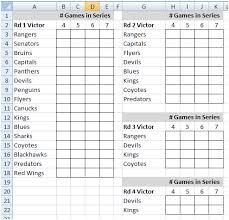 Football Squares Template Excel Nhl Playoff Pool Playoff Hockey Pool Ideas