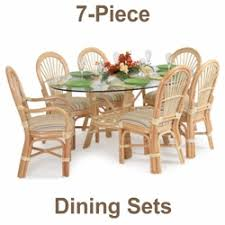 wicker dining table with glass top glass top rattan dining sets w caster chairs