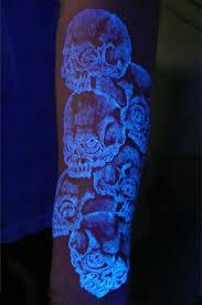 skull tattoo design idea for women glow dark tattoos zestymag