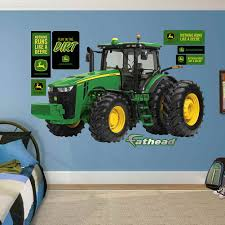 john deere stickers for walls home design ideas john deere 8360r tractor fathead peel u0026 stick wall decal part 6