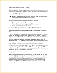 Example Of Good Argumentative Essay Example Argumentative Essay Thesis Statement