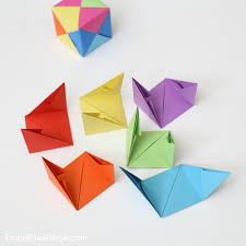 Origami Paper Works - how to fold origami paper cubes