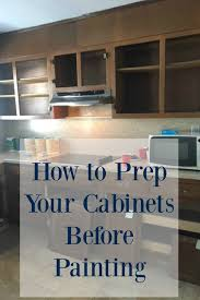 how to prep cabinets for painting prep your cabinets to paint seeking lavendar lane