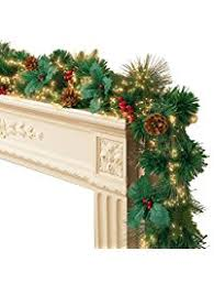 Outdoor Lighted Garland Shop Amazon Com Wreaths U0026 Garlands