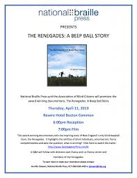 Blind Story Documentary The Renegades A Beep Ball Story Archives The