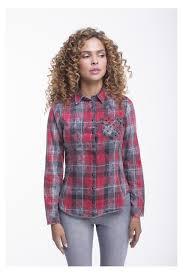 plaid shirt with black snaps
