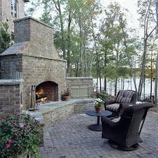 outdoor brick fireplace pool traditional with privacy wall solid