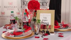 how to decorate tables kentucky derby shindigz