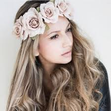 flower headbands fairy new peony women s bohemian floral headbands flower