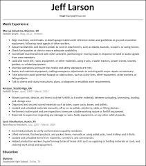 Forklift Experience On Resume Admin Resumesamples