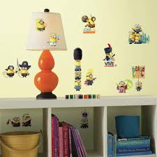 roommates 5 in x 11 5 in minions the movie 16 piece peel and minions the movie 16 piece peel and stick wall decal rmk3000scs the home depot