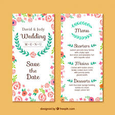 marriage invitation card floral wedding invitation card vector free