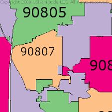 Gardening Zones By Zip Code - long beach california zip code boundary map ca