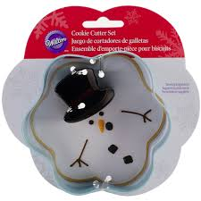 wilton industries 2308 5073 2 piece christmas melted snowman metal