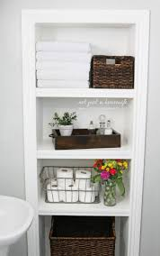 Bathroom Cabinet Storage Ideas Remodelaholic 25 Brilliant In Wall Storage Ideas For Every Room
