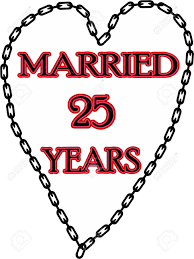 25 ans de mariage mariage humoristique anniversaire enchaîné pour 25 ans de