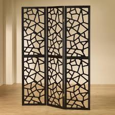accessories extraordinary black metal 3 panel folding screen