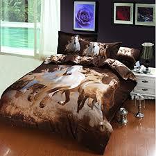 Girls Horse Bedding Set by 3d Horse Bedding Set For Girls And Boys Queen Size 5pcs E Https