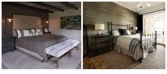 chambre à coucher rustique idées et photos pour une chambre de style moderne rustique blogue
