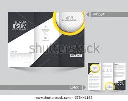 free vector trifold brochure template download free vector art