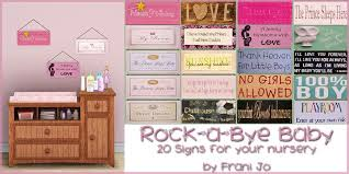 sims 3 rock a bye baby nursery signs downloads bps community