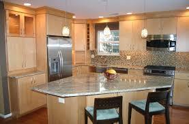triangle shaped kitchen island kitchen astonishing l shape kitchen decoration granite top