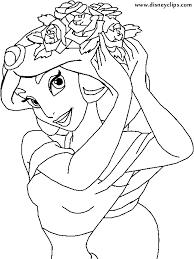 aladdin jasmine coloring pages dessincoloriage
