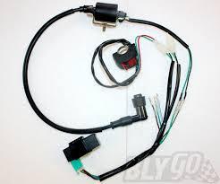 complete kick start engine wiring harness loom 50cc 125cc 140cc