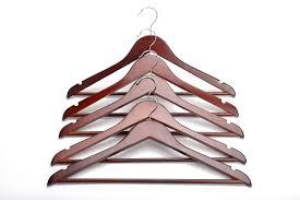 amazon com wood hangers multipurpose high grade solid wood suit