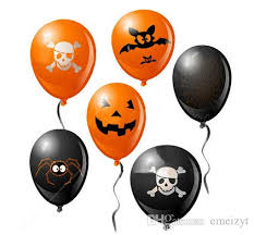 inflated balloons delivered ghosts demons pumpkin balloon venues decoration
