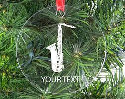 saxophone ornament etsy
