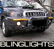 hyundai santa fe light replacement 2001 2006 hyundai santa fe xenon fog lights bumper driving lamps