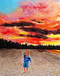 eli gross artwork clouds and colors blend at sunset original