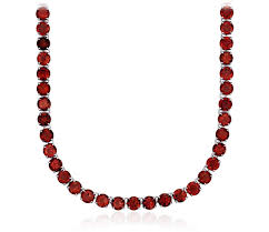 round sterling silver necklace images Round garnet eternity necklace in sterling silver 5mm blue nile