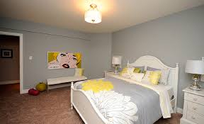 Decorating Guest Bedroom - funny yellow accents of contemporary bedroom using guest bedroom