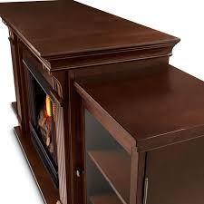 real flame calie 67 inch gel fireplace entertainment center dark