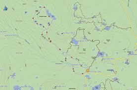 Gps Map Cuberant Lakes Hike Gps Map