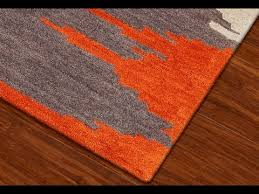 Orange Modern Rug Orange Area Rug With White Swirls Prepare 12