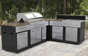 Outdoor Kitchen Stainless Steel Cabinets Sink Stunning Outdoor Kitchen With Sink Outdoor Kitchen Sink