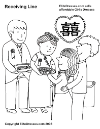 chinese coloring pages chinese weddings