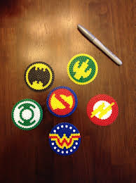 dc comics justice league perler bead coasters ornaments medallions
