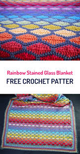 free crochet patterns for home decor rainbow stained glass blanket free crochet pattern crochet